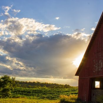Barn at Sunset, Ottumwa Road, Troy, Ks