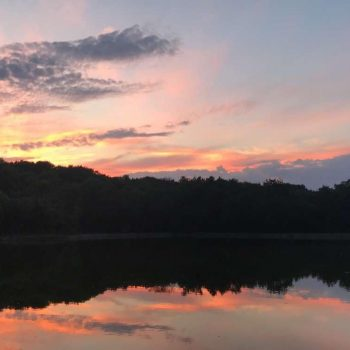 Sunset Over Troy Pond
